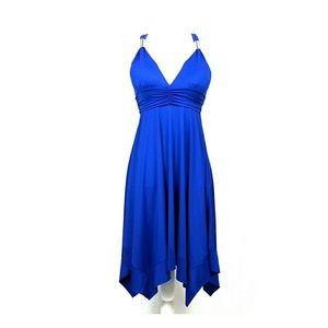 New Paradise USA Royal Blue Shark Bite Dress